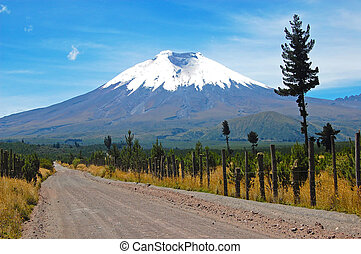 Road to the Cotopaxi Volcano