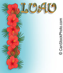 Luau Invitation Background