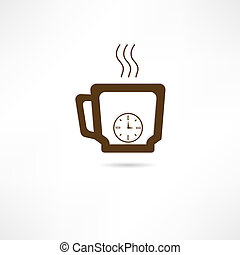 Time for coffee icon