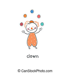 Clown. Illustration.