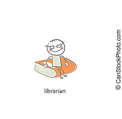 Librarian. Illustration.
