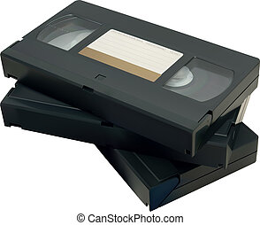 VHS tape - Illustration of VHS tape isolated on a white...