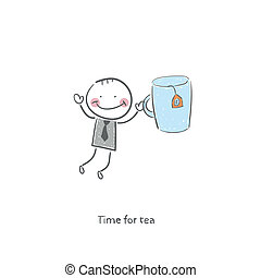 Time for tea. Illustration.
