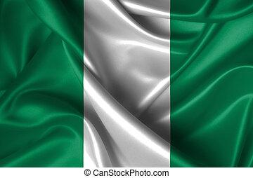 Wavy Flag of Nigeria