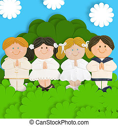 lovely first communion card