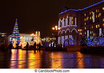Independence Square in Kiev - Independence square on...