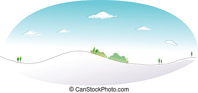 Snow mountain peak - This illustration is a common natural...