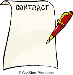Contract on a white background vector illustration