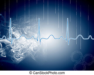 heart beat picture on a colour