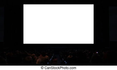 Viewers in the cinema house. Variant III. Screen size was 60...