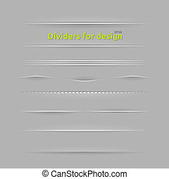 Dividers for design Set of design elements with different...