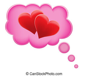 concept of dream a love in cloud vector illustration...
