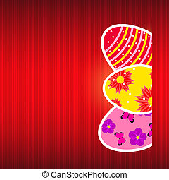 Vector  Paper card with  easter eggs