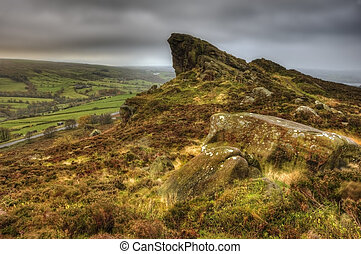 View of Ramshaw Rocks in Peak District  National Park