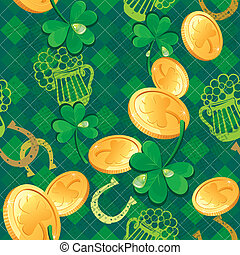 Seamless Saint Patrick day pattern.