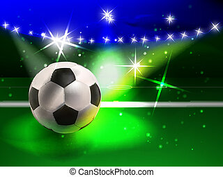 football spectacle - vector colorful football concept, eps10...