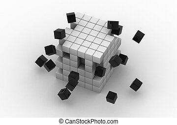 3d illustration of cubes