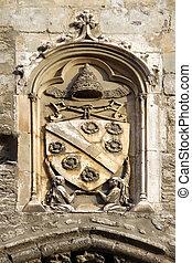 papal Emblem at the Popes Palace, Avignon, France - papal...