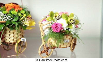 Flower Arrangements In Florist Shop - Valentines Day Flower...