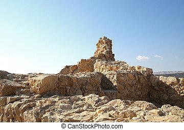 Masada,  Israel, fästning