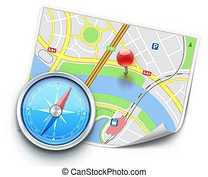 Navigation concept - Vector illustration of navigation...