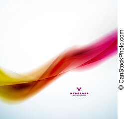 Colorful abstract wave design template. EPS10 vector