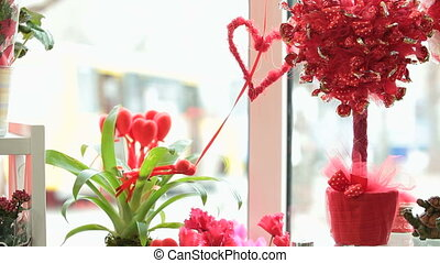 Valentines Day Window Display Decoration