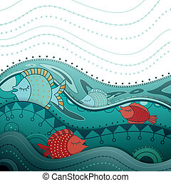 Ornamental Vector Background - Vector Illustration of an...