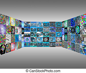 interface - Abstract view of the many different images to...