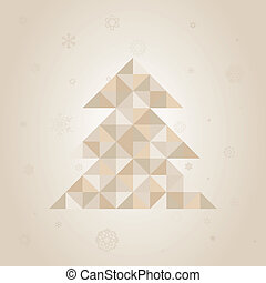 Christmas tree a triangle