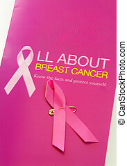 signage - breast cancer signage and pink ribbon