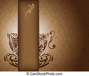 Background with stylized coffee cup Abstract illustration