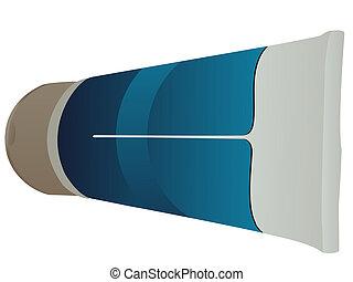 hand cream tube on isolated background