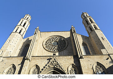 Santa Maria del Mar Church facade