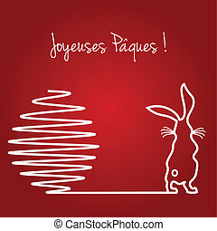 Joyeuses Paques - Happy Easter greeting card background