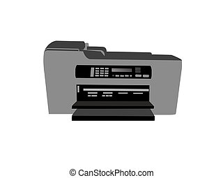 fax machine on isolated background
