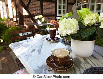 Ao ar livre,  café, parque