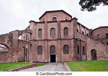 Basilica of San Vitale in Ravenna, Italy - view of Basilica...