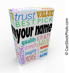 Your Name Product Box Package Marketing Reputation of You -...