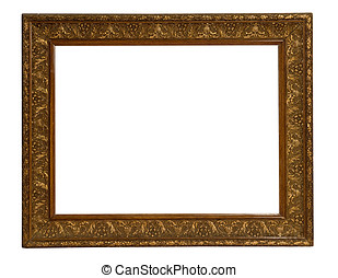 Old gilded gold picture frame - Old rectangular gilded gold...