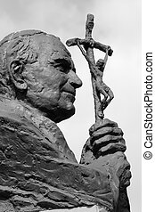 Statue of Pope John Paul II ( Blessed John Paul or John Paul...