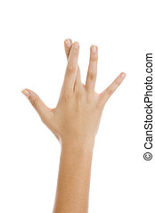 crossed fingers - hands showing crossed fingers on an...