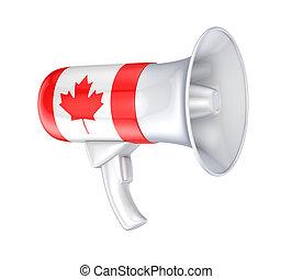 alto-falante, canadense, bandeira
