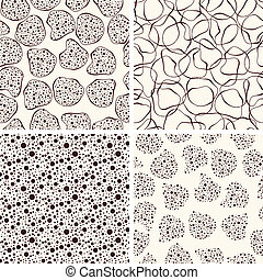 Vector Seamless Funky Patterns - 4 Vector seamless funky...