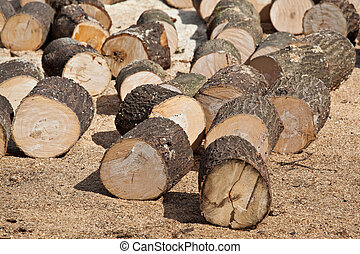 Wood chunks - Cutted wood chunks for fire wood