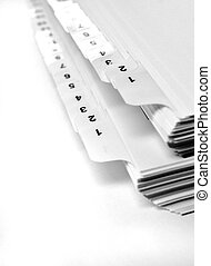 Numberd File Tabs - White file number tabs isolated on...