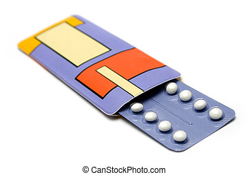 Pack of Birth Control Pills - Packaged pills isolated on a...