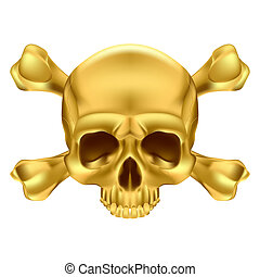 Skull and crossbones - Gold Skull and Crossbones...