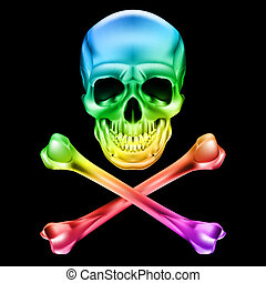 Skull and crossbones - Abstract Skull and crossbones....