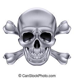 Skull and crossbones - Silver Skull and crossbones....